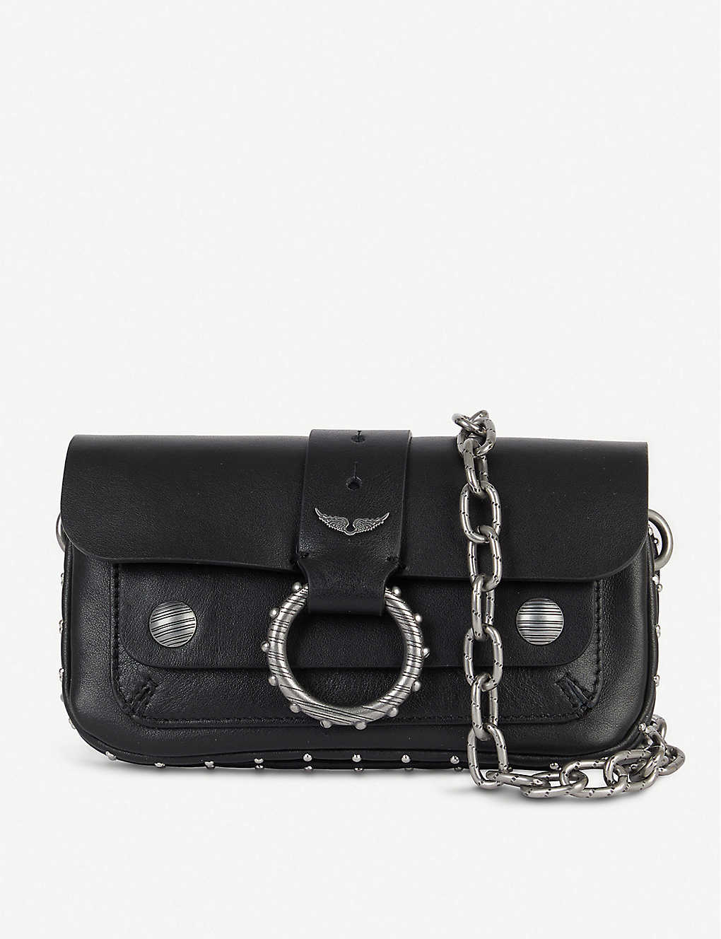ZADIG&VOLTAIRE: Kate Wallet studded leather cross-body bag