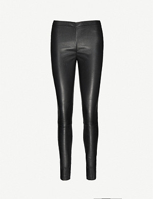 ZADIG&VOLTAIRE Pharel Cuir Deluxe mid-rise leather leggings