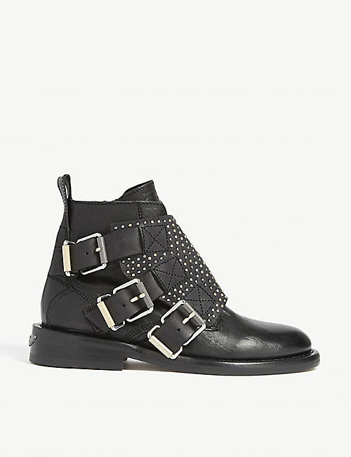 ZADIG&VOLTAIRE Laureen roma leather ankle boots