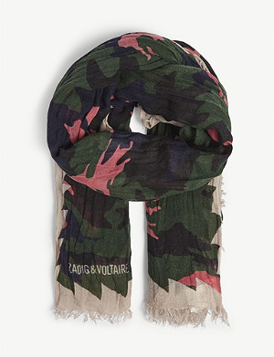 ZADIG&VOLTAIRE Delta Camou Dancing woven scarf