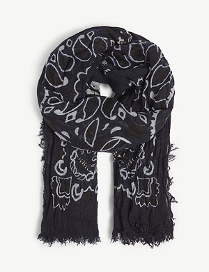 ZADIG&VOLTAIRE Delta Paisley Skull woven scarf