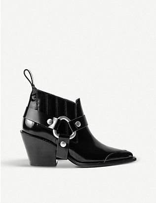 ZADIG&VOLTAIRE: N'Dricks patent-leather heeled ankle boots