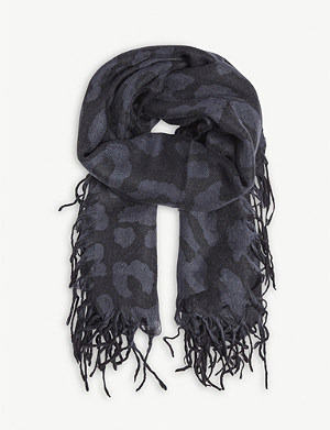 ZADIG&VOLTAIRE Neo Leo cashmere and silk-blend stole