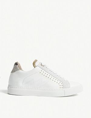 ZADIG&VOLTAIRE ZV1747 Back Wild leather trainers