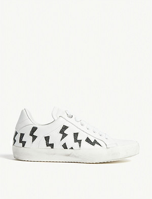 ZADIG&VOLTAIRE Flash lurex leather trainers