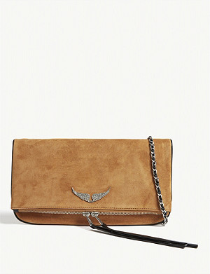 ZADIG&VOLTAIRE Rock leather clutch
