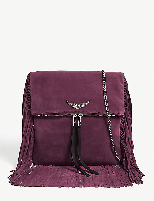 ZADIG&VOLTAIRE Rockson Fringes suede cross-body bag