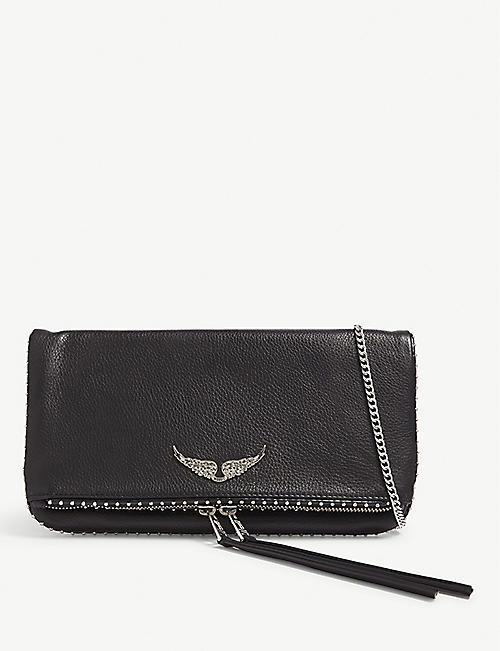 ZADIG&VOLTAIRE: Rock studded leather clutch