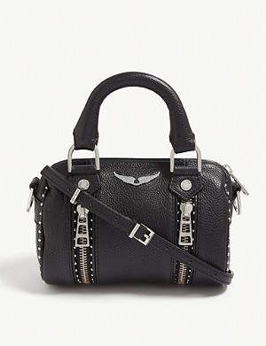 ZADIG&VOLTAIRE Nano Sunny studded leather bowling bag