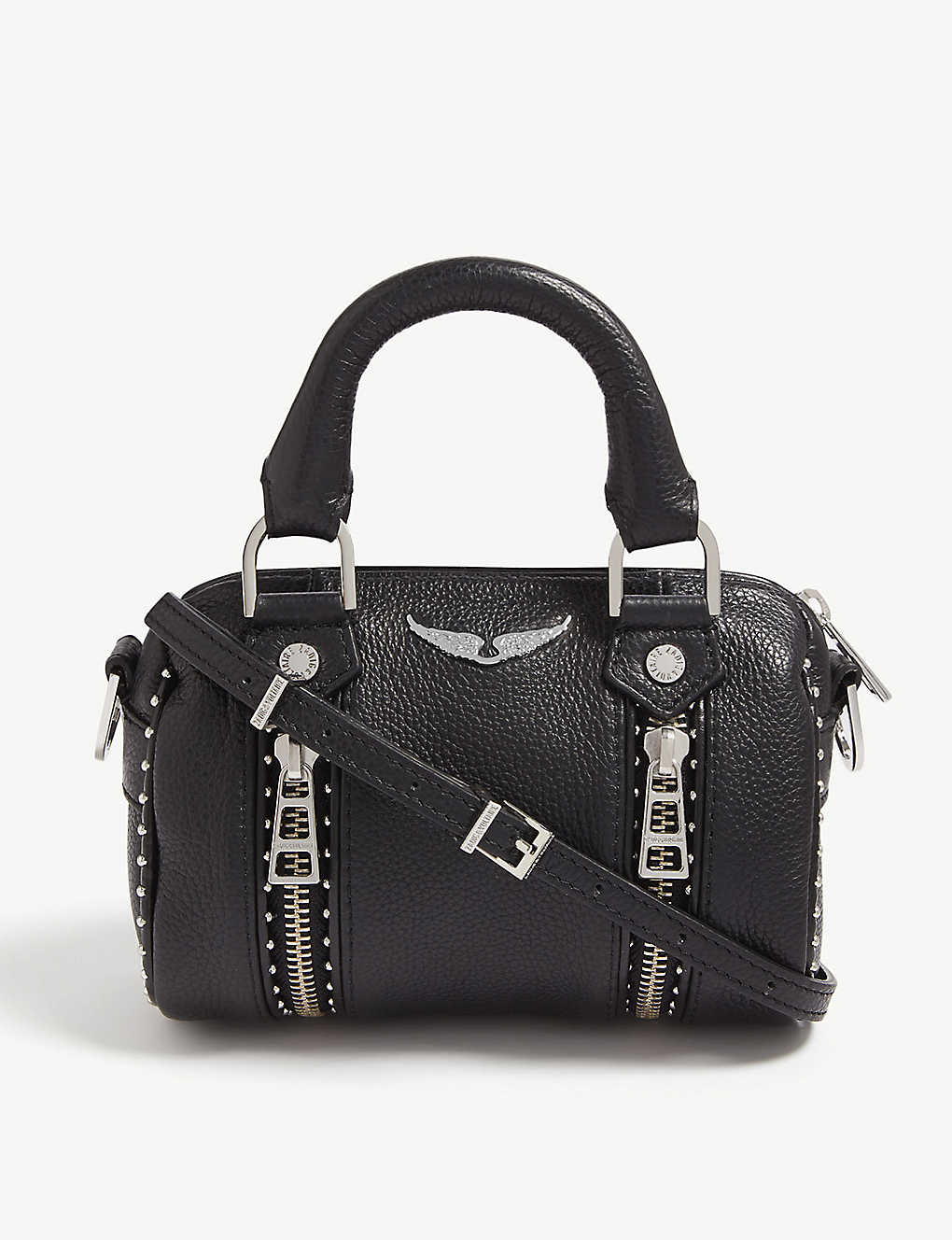 ZADIG&VOLTAIRE: Nano Sunny studded leather bowling bag