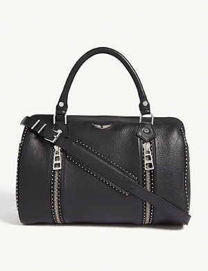 ZADIG&VOLTAIRE Sunny studded leather bowling bag