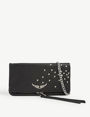 ZADIG&VOLTAIRE Rock heart-embellished leather clutch