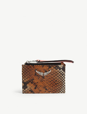 ZADIG&VOLTAIRE Wild snakeskin-embossed leather card holder
