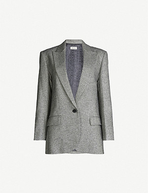 ZADIG&VOLTAIRE Volly single-breasted metallic jacket