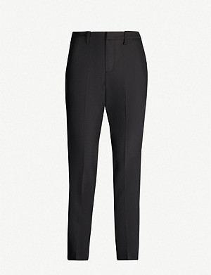 ZADIG&VOLTAIRE Pomelo branded-stripe cotton-blend tapered trousers