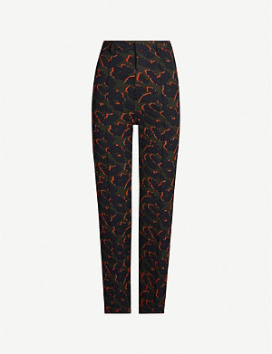 ZADIG&VOLTAIRE Leo abstract-print tapered mid-rise stretch-woven trousers