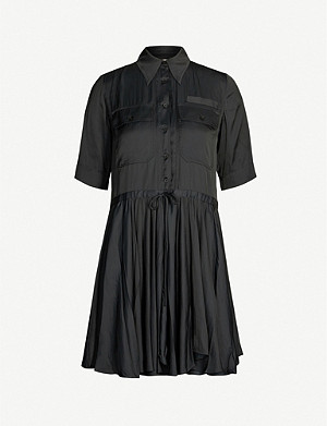 ZADIG&VOLTAIRE Ranili satin pleated mini dress