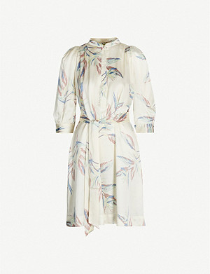 ZADIG&VOLTAIRE Retouch Paradise leaf-print satin dress