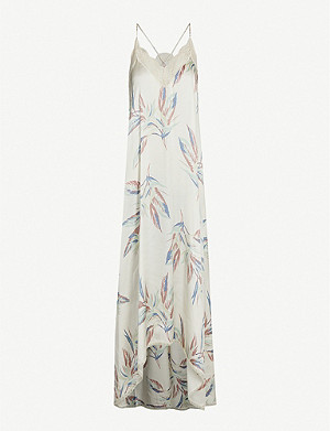 ZADIG&VOLTAIRE Risty Paradise lace-trimmed satin dress