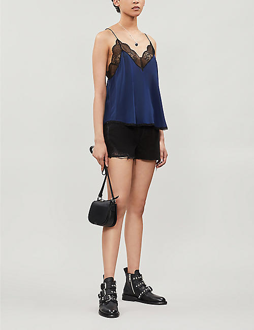 ZADIG&VOLTAIRE Christy lace-trim silk camisole top