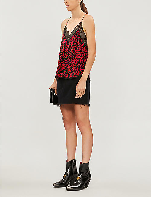 ZADIG&VOLTAIRE Christy leopard-print crepe camisole top