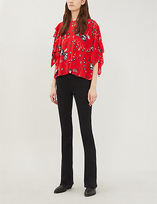 ZADIG&VOLTAIRE Tap Daisy silk blouse