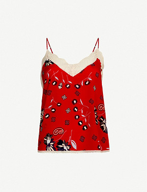 ZADIG&VOLTAIRE Christy floral-print silk-crepe camisole