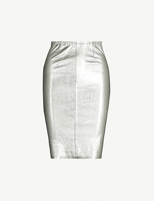ZADIG&VOLTAIRE Jaden metallic high-waist leather mini skirt