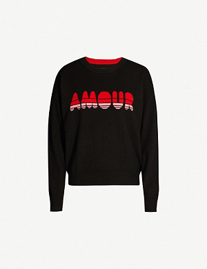 ZADIG&VOLTAIRE Gaby amour-print cashmere jumper