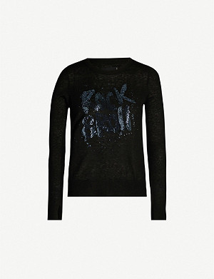 ZADIG&VOLTAIRE Slogan-embroidered cashmere jumper