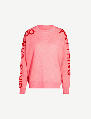 ZADIG&VOLTAIRE Graphic-sleeve oversized merino wool jumper