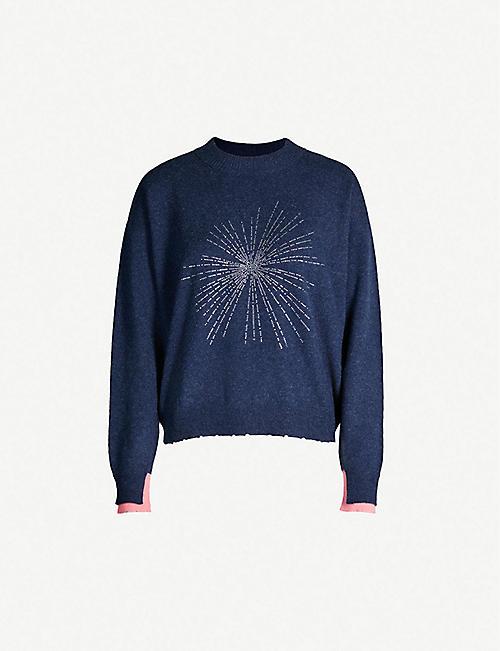 1cb3c1c66c1 ZADIG&VOLTAIRE Gaby Solar embellished cashmere jumper