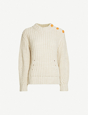 ZADIG&VOLTAIRE Marlon button-detail knitted jumper