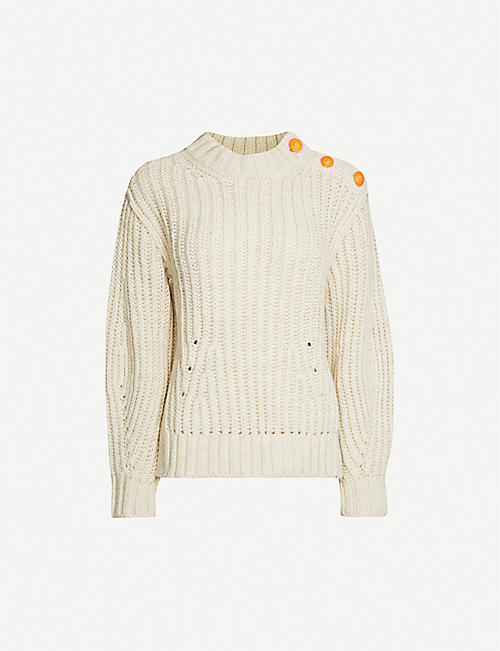 ZADIG&VOLTAIRE: Marlon button-detail knitted jumper