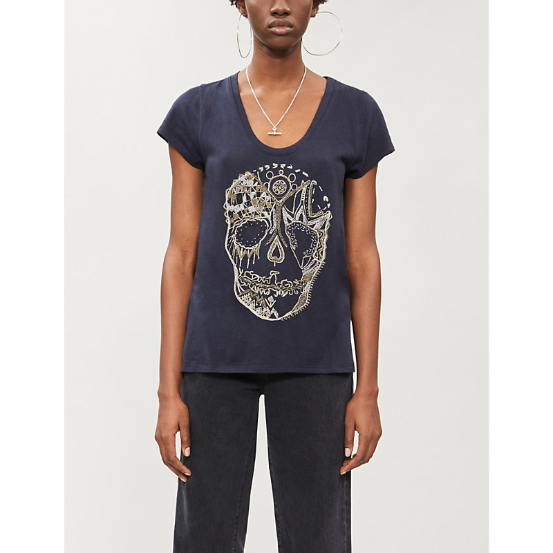 Zadig & Voltaire T-shirts MINDA COTTON-MODAL BLEND T-SHIRT