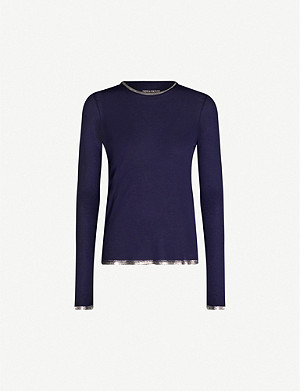 ZADIG&VOLTAIRE Willy Foil jersey top