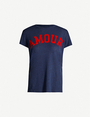 ZADIG&VOLTAIRE Walk Amour jersey T-shirt