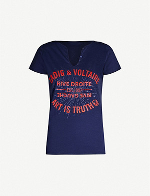 ZADIG&VOLTAIRE Tunisien text-print cotton-jersey T-shirt