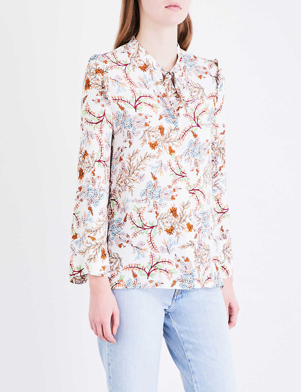 MAJE - Lixie crepe shirt | Selfridges com