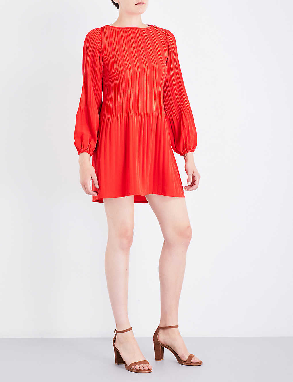 acde18302a98 MAJE - Rockin pleated crepe mini dress | Selfridges.com