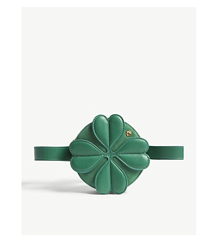db78ebd80362 MAJE - Leather clover mini cross-body bag