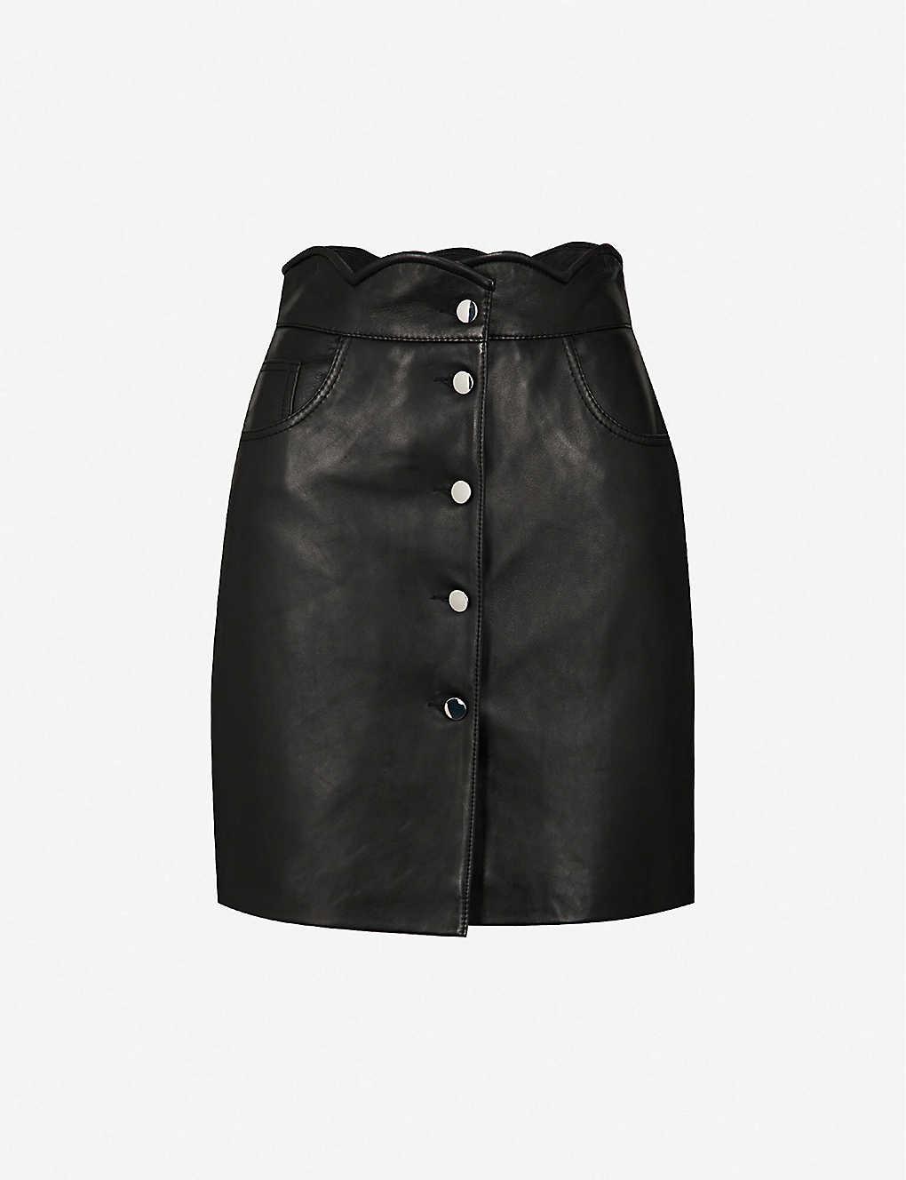 5eb74070f MAJE - Journey leather mini skirt   Selfridges.com