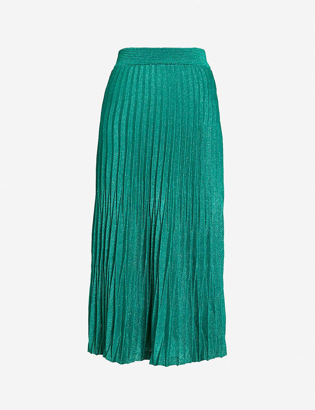 6276ea51ab MAJE - Jupette metallic pleated skirt | Selfridges.com