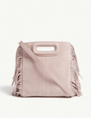Pink Suede Fringing M Bag