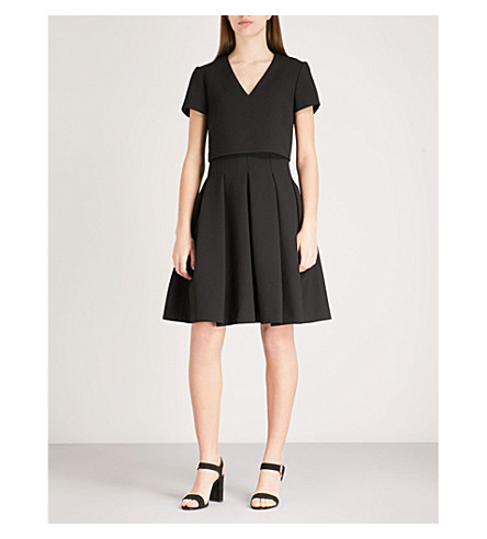 Maje  ROZANE PLEATED CREPE DRESS