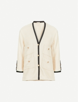MAJE Vega cotton tweed blazer