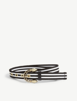 MAJE Ariona double-buckled suede belt