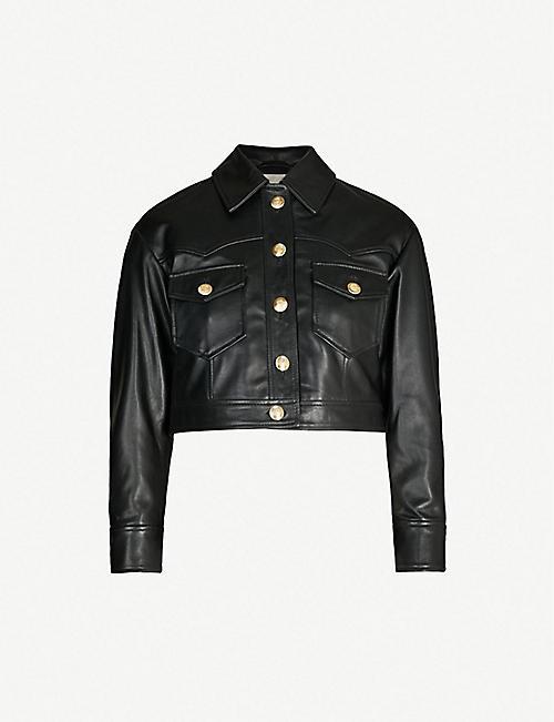 b9e64396e MAJE Bacchus cropped leather jacket