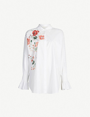 MAJE Cravi bouquet print cotton shirt