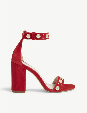 MAJE Studded suede sandals